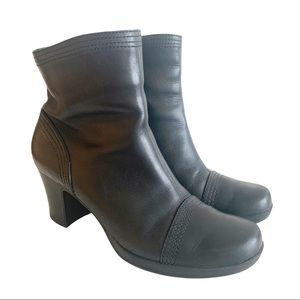 Franco Sarto Black Leather Ankle Boots Booties 7